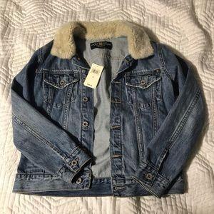 Lucky brand women's tomboy trucker jean jacket S